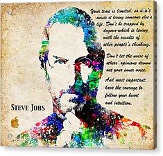 Steve Jobs Portrait Acrylic Print
