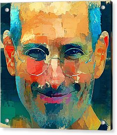 Steve Jobs The Legend Acrylic Print