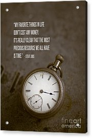Steve Jobs Time Quote Acrylic Print by Edward Fielding