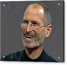 Steve Jobs Acrylic Print by Yury Malkov