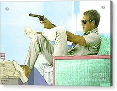 Steve Mcqueen, Colt Revolver, Palm Springs, Ca Acrylic Print