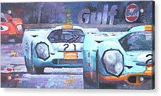 Steve Mcqueen Le Mans Porsche 917 01 Acrylic Print by Yuriy Shevchuk