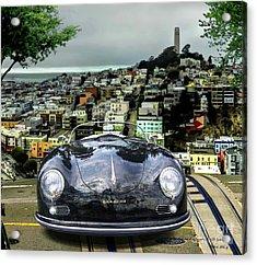 Steve Mcqueen's 58' Porsche 356 1600 Speedster, Telegraph Hill, San Francisco, Ca Acrylic Print