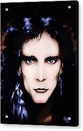 Acrylic Print featuring the painting Steve Vai by Curtiss Shaffer