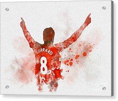 Steven Gerrard Acrylic Print
