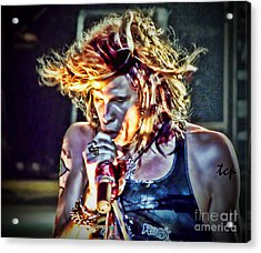 Steven Sings Acrylic Print by Traci Cottingham