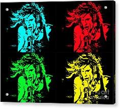 Steven Tyler Pop Art Acrylic Print by Traci Cottingham