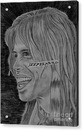 Acrylic Print featuring the drawing Steven Tyler Portrait Image Pictures by Jeepee Aero