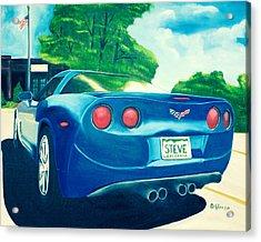 Steve's Corvette Acrylic Print