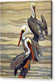 Steves Fishing Buddies Acrylic Print