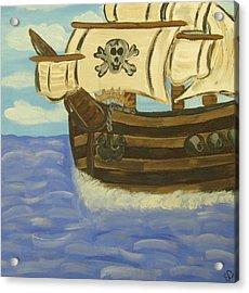 Steve's Spooky Ship Acrylic Print by Eva  Dunham