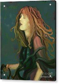 Stevie Nicks Acrylic Print by Carrie Joy Byrnes