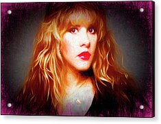 Stevie Nicks Drawing Acrylic Print
