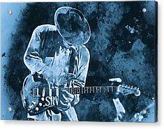 Stevie Ray Vaughan - 12 Acrylic Print