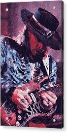Stevie Ray Vaughan - 25 Acrylic Print