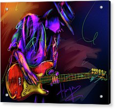 Stevie Ray Vaughan Acrylic Print by DC Langer