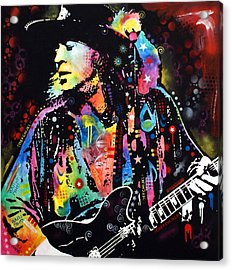 Acrylic Print featuring the painting Stevie Ray Vaughan by Dean Russo