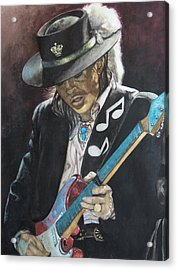 Stevie Ray Vaughan  Acrylic Print by Lance Gebhardt