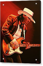 Stevie Ray Vaughan Painting Acrylic Print by Paul Meijering