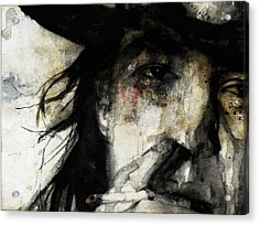 Stevie Ray Vaughan Retro Acrylic Print