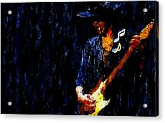 Stevie Ray Vaughan Signed Prints Available At Laartwork.com Coupon Code Kodak Acrylic Print by Leon Jimenez