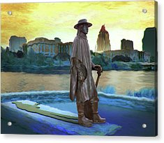 Stevie Ray Vaughan Statue - Austin, Tx Acrylic Print
