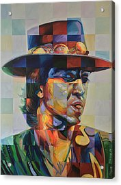 Stevie Ray Vaughan Acrylic Print by Steve Hunter