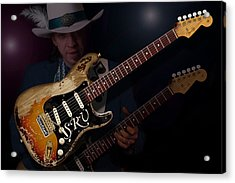 Stevie Ray Vaughan Acrylic Print by WB Johnston