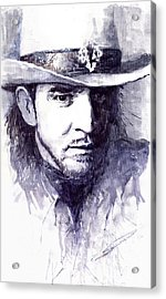 Stevie Ray Vaughan Acrylic Print by Yuriy  Shevchuk