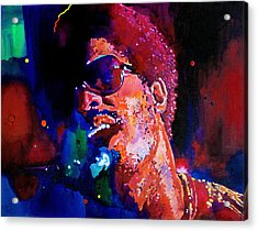 Stevie Wonder Acrylic Print by David Lloyd Glover