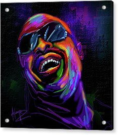Stevie Wonder Acrylic Print by DC Langer