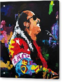 Stevie Wonder Live Acrylic Print by Richard Day