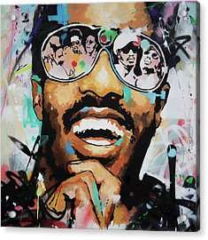 Stevie Wonder Portrait Acrylic Print by Richard Day