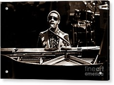 Stevie Wonder Softer Gentle Mood - Sepia Acrylic Print