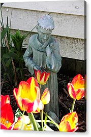 St.francis Acrylic Print by Judy Via-Wolff