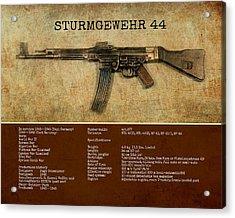Acrylic Print featuring the digital art Stg 44 Sturmgewehr 44 by John Wills