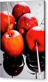Sticky Red Toffee Apple Childhood Treat Acrylic Print by Jorgo Photography - Wall Art Gallery