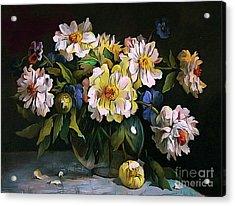 Still Life 04 ...23.13 Bouquet Of White Peonies Acrylic Print