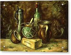 Still Life 72 - Oil Acrylic Print by Art America Gallery Peter Potter