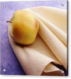 123 - Still Life - Apple And Napkin Acrylic Print by Eric  Copeman