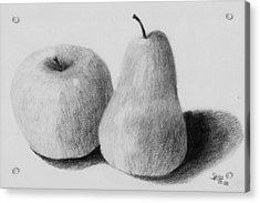 Still Life Apple Pear Acrylic Print by Spiros Antonellos
