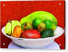 Still Life Art With Fruits Acrylic Print