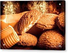 Still Life Bakery Art. Shortbread Cookies Acrylic Print by Jorgo Photography - Wall Art Gallery