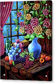 Still Life By The Window Acrylic Print