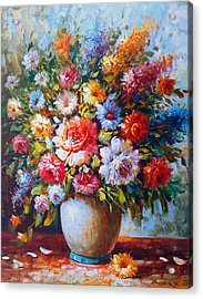 Still Life Colourful Flowers In Bloom Acrylic Print