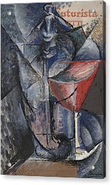 Still Life  Glass And Siphon Acrylic Print by Umberto Boccioni