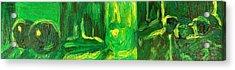 Still Life Green Acrylic Print by Hatin Josee