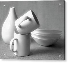 Still Life In Monochrome Acrylic Print