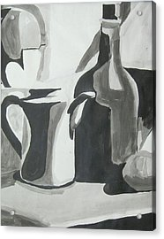 Still Life Ink Washes Acrylic Print by Carrie Maurer