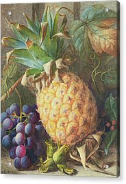 Still Life Of A Pineapple And Grapes  Acrylic Print
